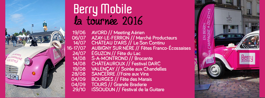Tournée Berry Mobile 2016