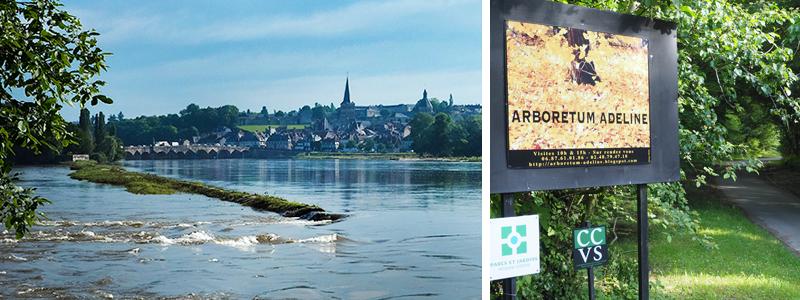 D'un côté La Charité-sur-Loire de l'autre l'Arboretum Adeline à La Chapelle-Montlinard ©Ad2T - E. Luciani