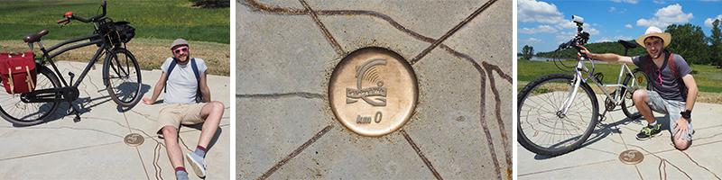 Kilomètre zéro de la Loire à Vélo à Cuffy ©Ad2T