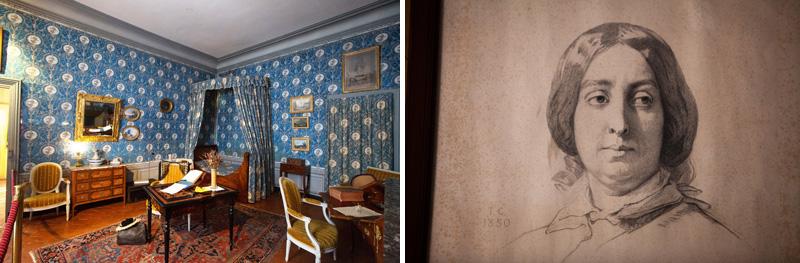 Chambre et portrait de George Sand à Nohant - © HVI