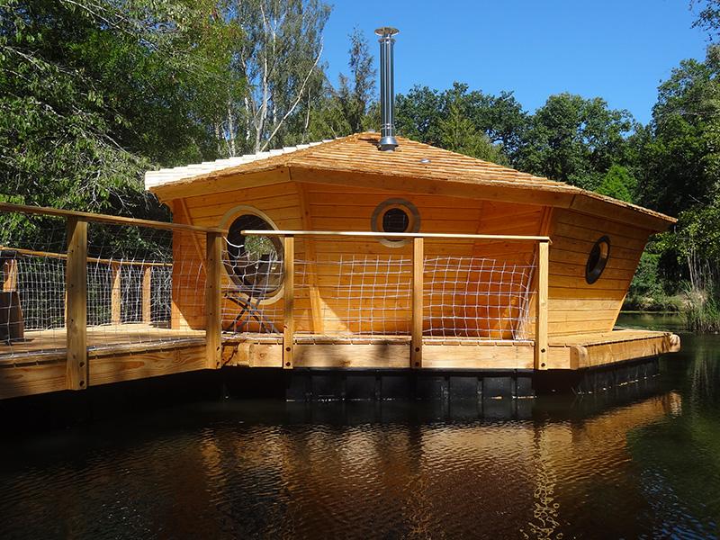 Cabane flottante de Loye-sur-Arnon