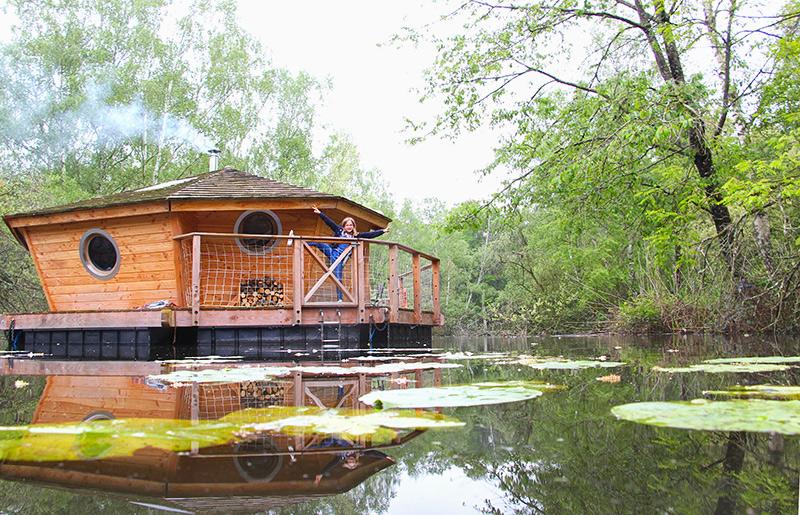 Cabanes sur l'eau en Berry ©Voyage Family