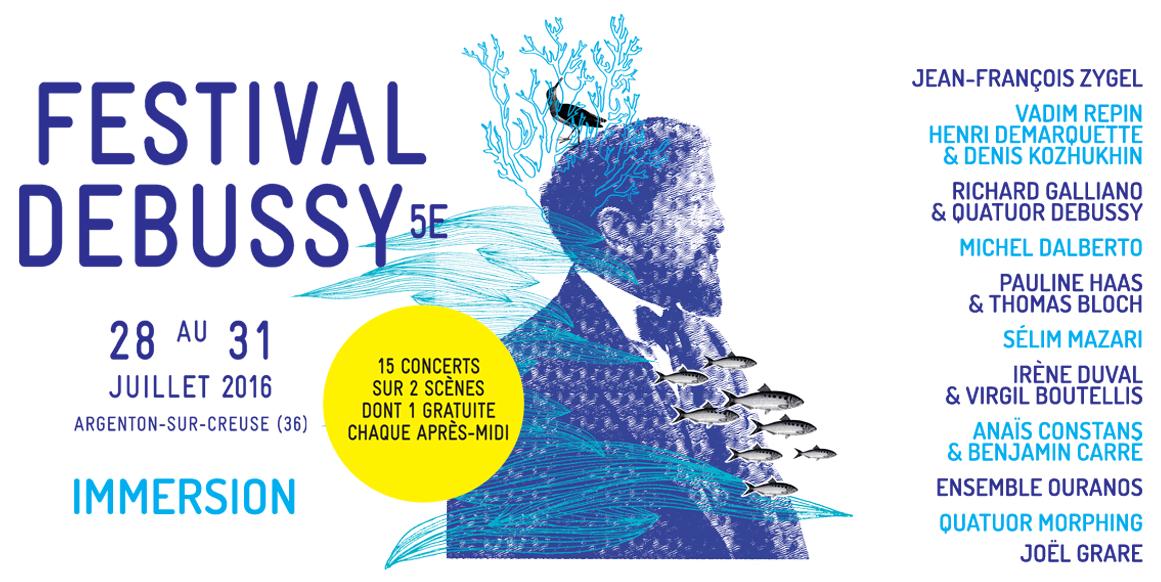 Affiche du Festival Debussy 2016 - © Festival Debussy