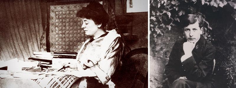 Marguerite Audoux et Alain-Fournier nés en Sologne Berrichonne ©DR