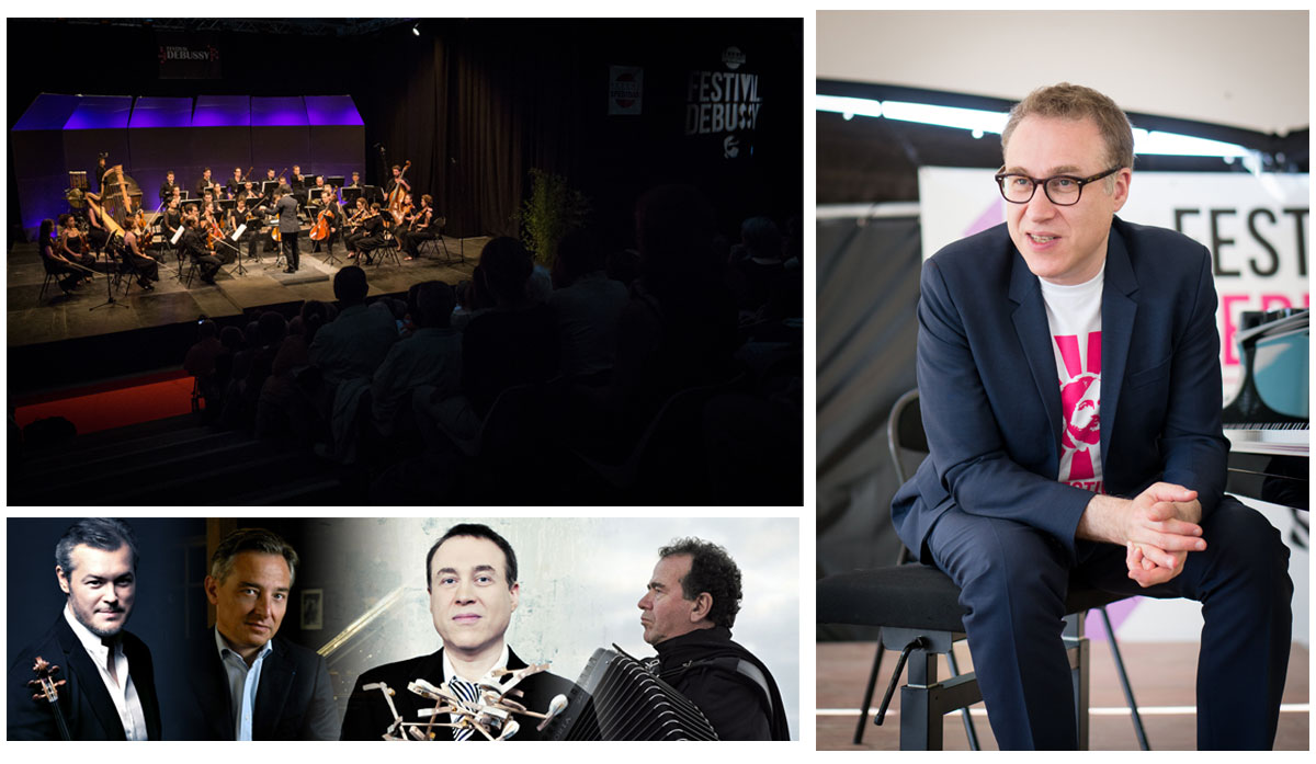 Vadim Repin, Michel Dalberto, Jean-François Zygel (photo de droite) et Richard Galliano sont, entre-autres, au programme de l'édition 2016. - © Emmanuel Orain & Festival Debussy