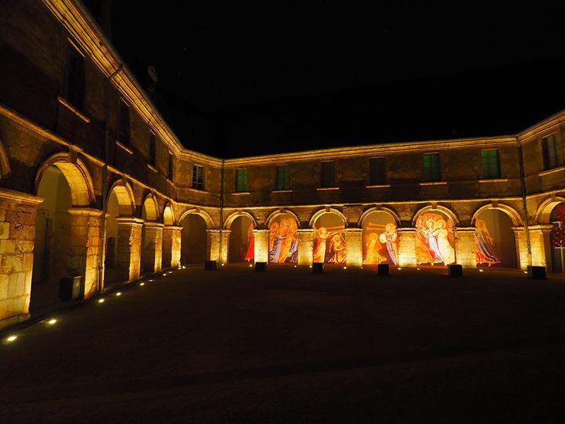 Nuits lumières de Bourges // Couvent des Augustins ©Ad2T - V. Laebens