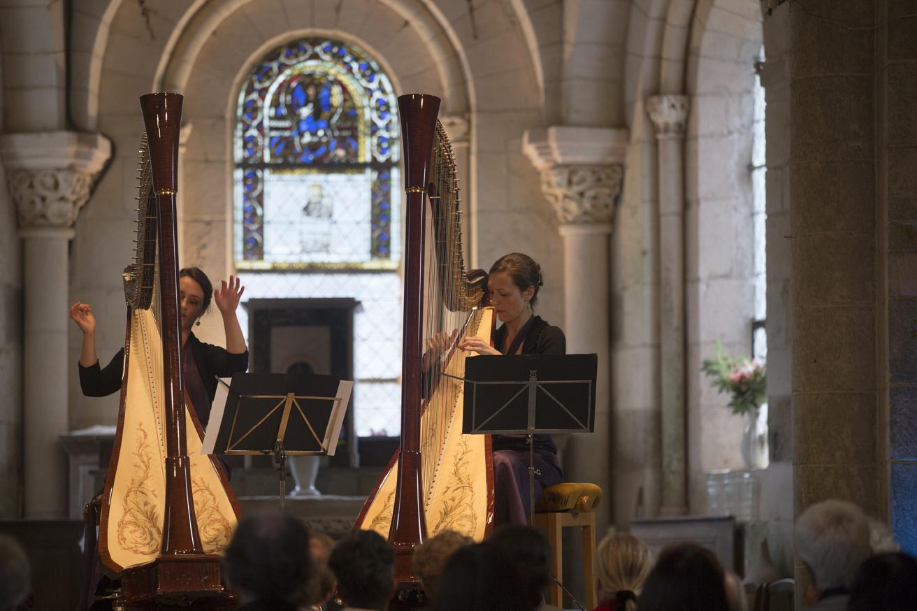 Concert de harpe à Gargilesse © Hellio et Van Ingen