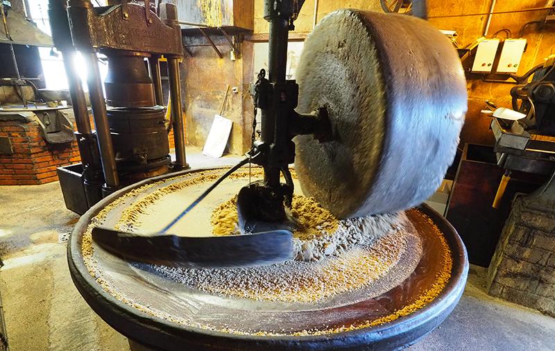 La Meule de l'huilerie présente depuis 1929 ©Ad2T - V. Laebens