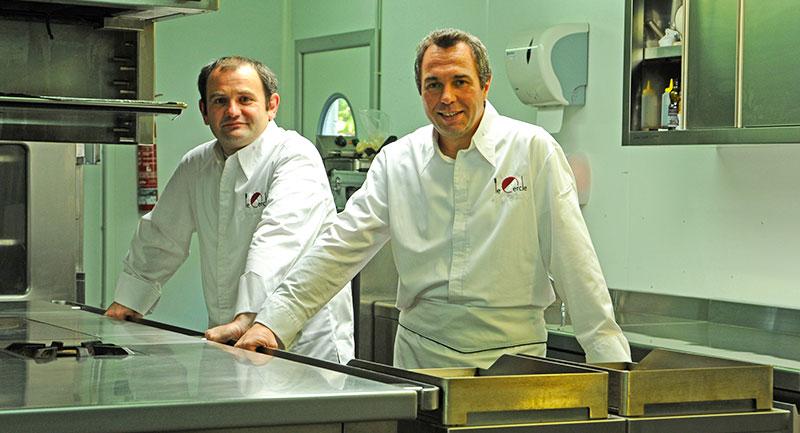 Christophe Lot et Pascal Chaupitre, chefs étoilés du Cercle ©Ad2T - J. Desille