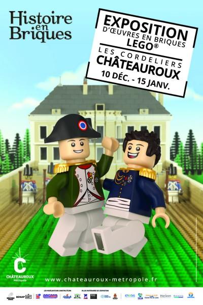 Affiche exposition LEGO à Châteauroux