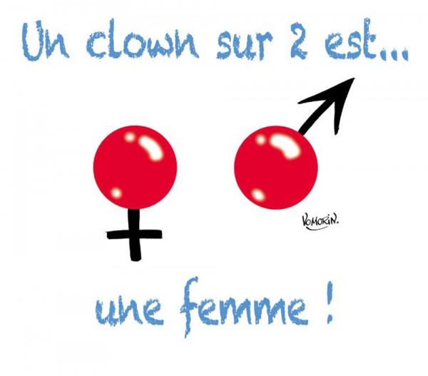 Un clown sur deux est une femme - © Droits réservés