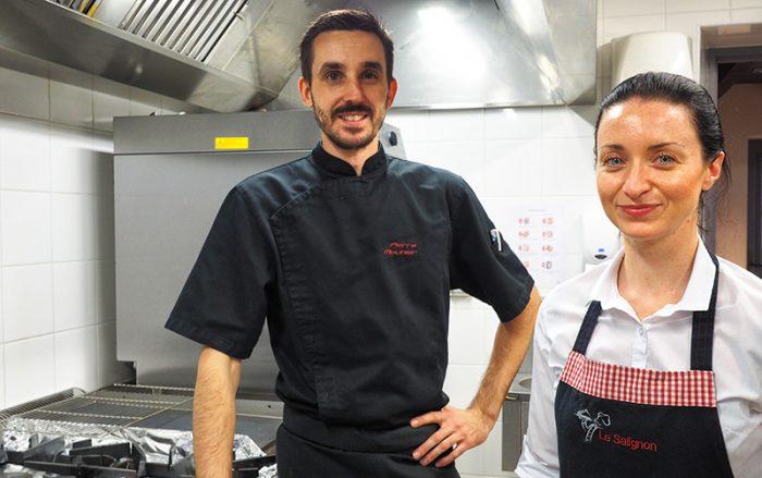 Pierre Molinier et Aline Noble les chefs du restaurant le Salignon