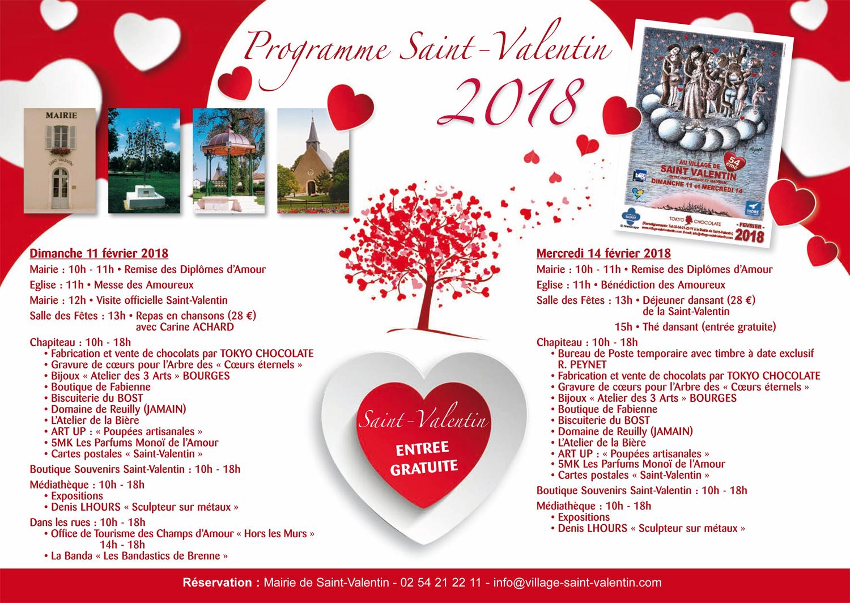 Programme 2018 pour la Saint-Valentin