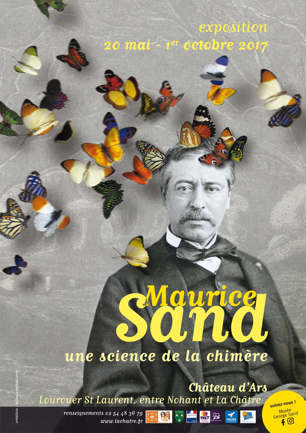 Affiche de l'exposition Maurice Sand au Château d'Ars