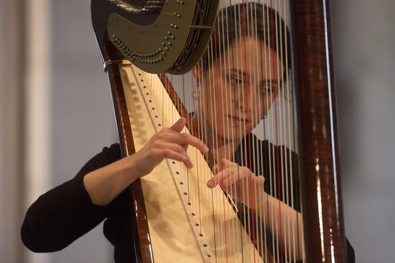 Concert de harpe à Gargilesse, église. Atlantic Harp duo (Marta Power Luce et Elizabeth Jaxon) © Hellio Van Ingen