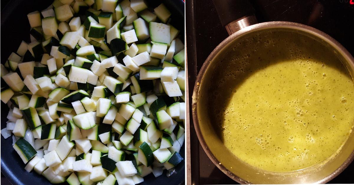 Soupe froide de courgettes au fromage de valençay © E. MARY ADTI