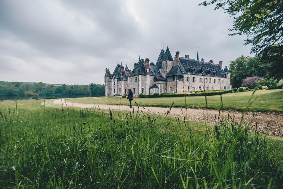 Chateau de la Verrerie à Oizon Oiseau rose