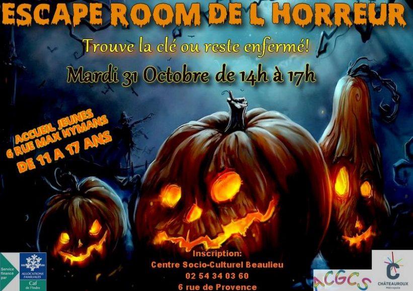 Escape room de l'horreur - © ACGCS Chateauroux
