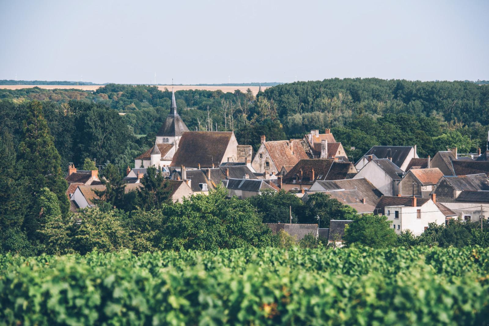 Vue sur le village et les vignobles de Reuilly ©Bestjobers - Max Coquard