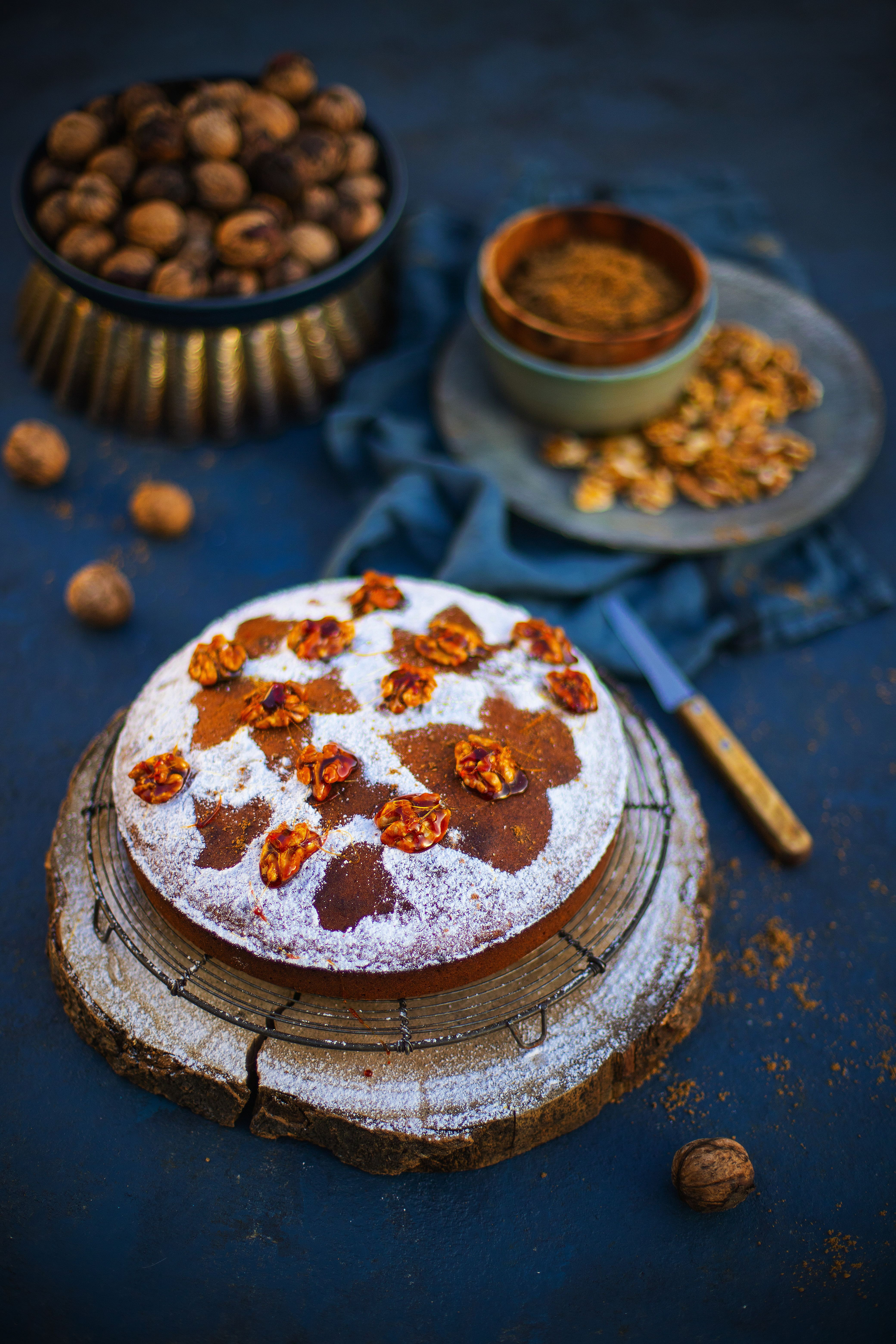 Gâteau moelleux aux noix du Berry