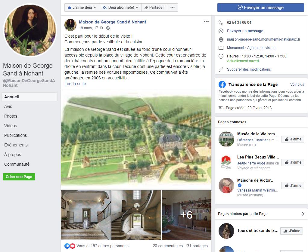 Maison de George Sand à Nohant - Accueil