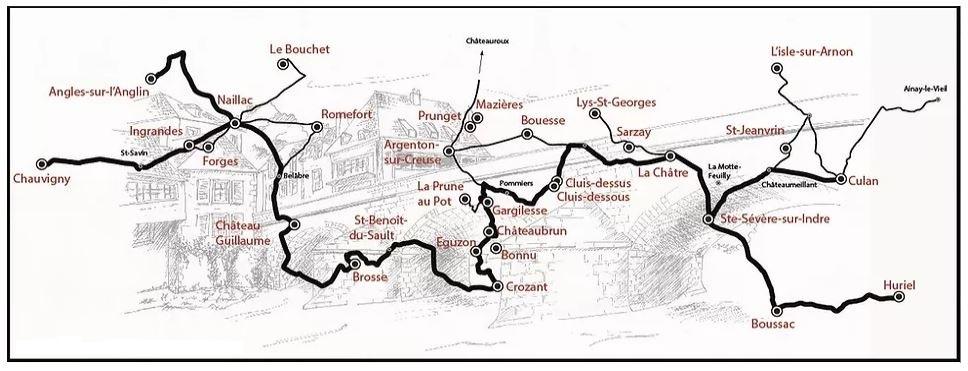 Carte - © Chemins de la Guerre de 100 ans