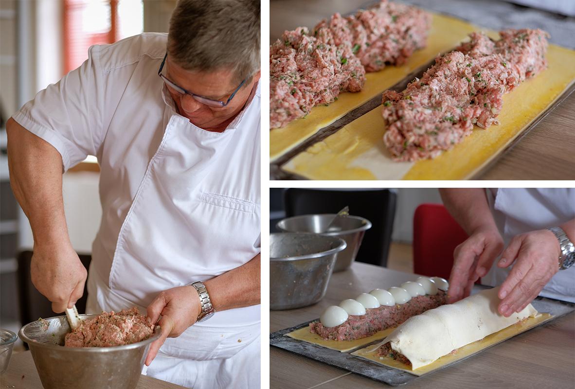 préparation du pâté berrichon par Jean-Pierre Maréchau ©isabelle bardiau