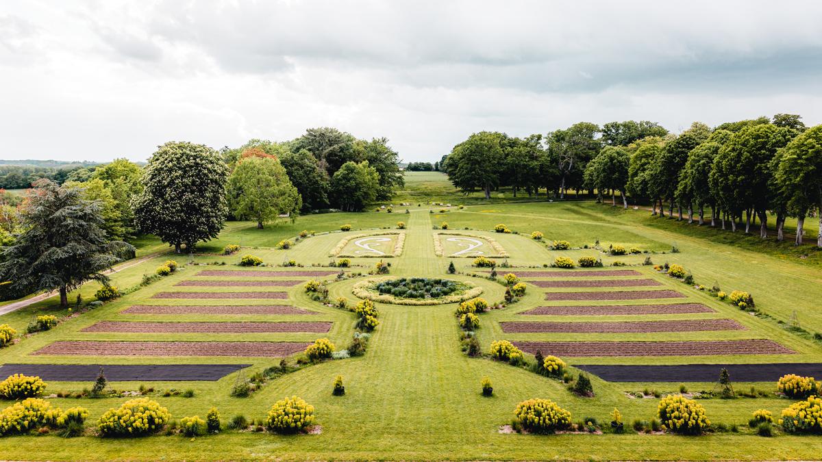 La Grande Perspective, jardin du chateau de Valençay