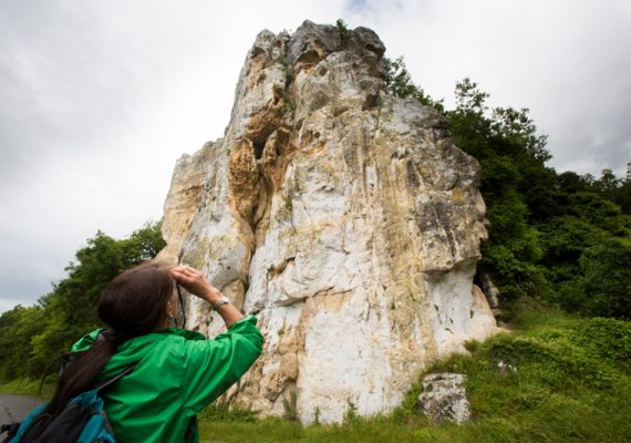 Vue sur le rocher de la Dube