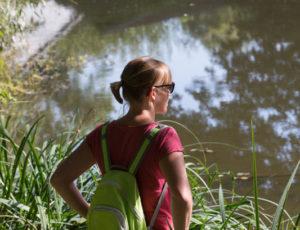 Les bords de l'Anglin – En contemplant la rivière