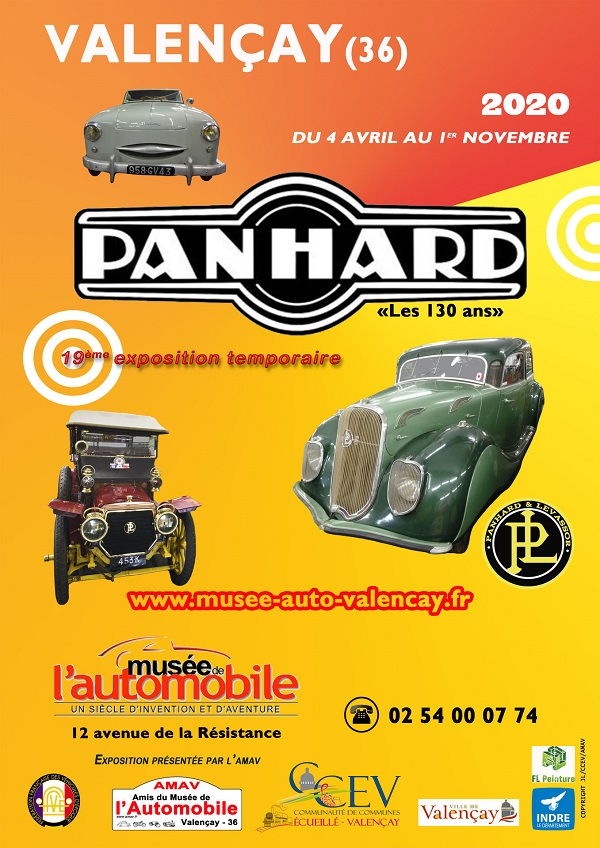 Affiche-A4-Expo-PANHARD-2020-MUSEE-AUTO-VALENCAY