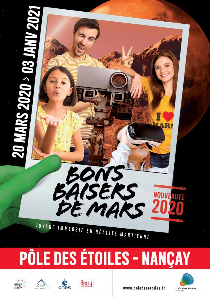 Affiche exposition Bons baisers de Mars – Pôle des Etoiles-1