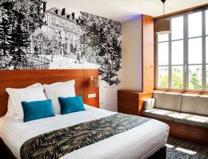 Chambre Confort bleu Grd Lit