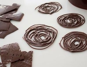 Décor chocolat LV