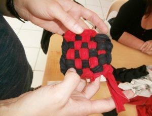 éponge tissu récup – Stage CPIE Brenne-Berry