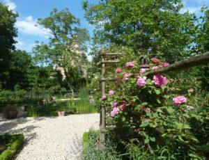 Jardins de Poulaines-roseraie