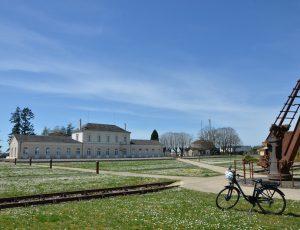 Vue sur le site de l'ancienne gare du Blanc