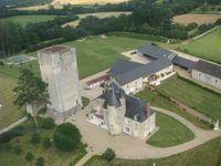 Vue aerienne Chateau de Mazieres