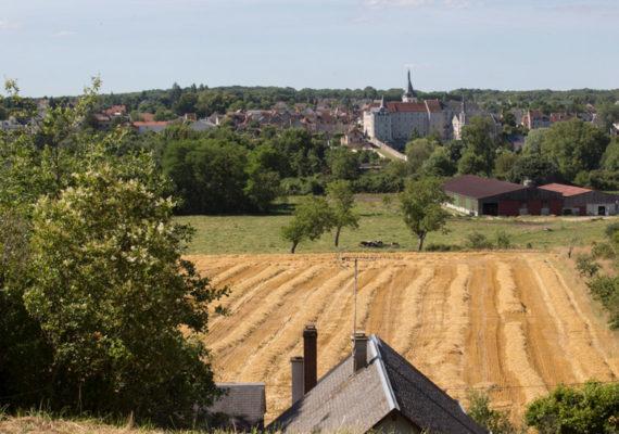 Terres de vignerons – Vue sur l'ancienne collégiale de St Gaultier