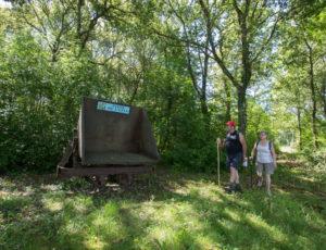 Les mines de fer de Chéniers – Ancien wagon de chargement