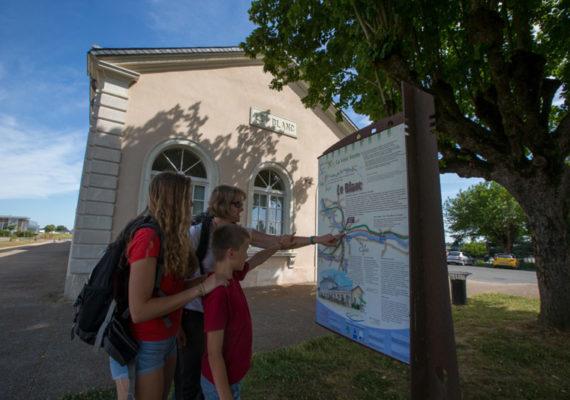 Chemin d'eau, chemin de fer – A l'ancienne gare du Blanc