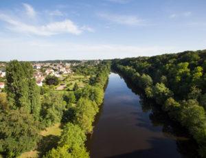 Chemin d'eau, chemin de fer – Vue sur la Creuse