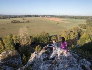 Visite au pays des sarcophages – Vue du rocher de la Dube