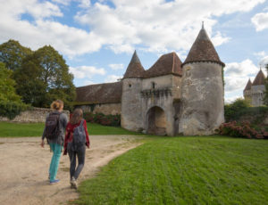 Les coteaux de l'Abloux – Passage vers le château de Chazelet