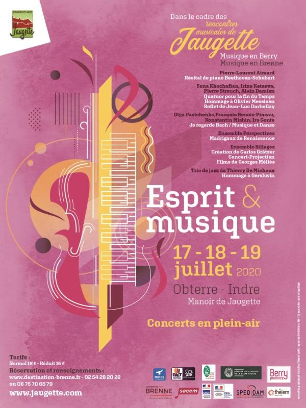 affiche Esprit et musique 2020