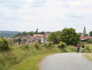 cyclotouriste à sainte Sévère sur Indre