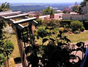 jardin depuis la terrasse Sancerre